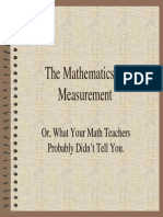 Mathematics of Measurement1