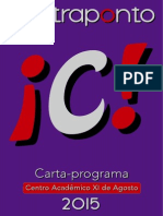 Carta  Programa do Coletivo Contraponto 2015