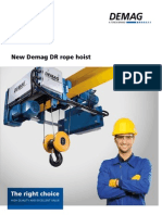 New Demag DR rope hoist
