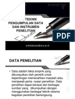Penelitian 5 Data Teknik Pengumpulan Data & Instrumen Penelitian