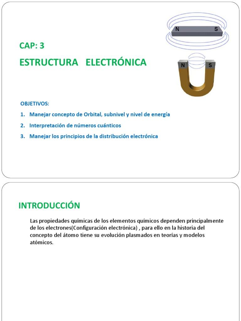 Capitulo 3 Estructura Electronica Pdf
