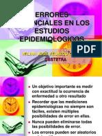 10 ERRORES POTENCIALES EN LOS ESTUDIOS EPIDEMIOLOGICOS.ppt