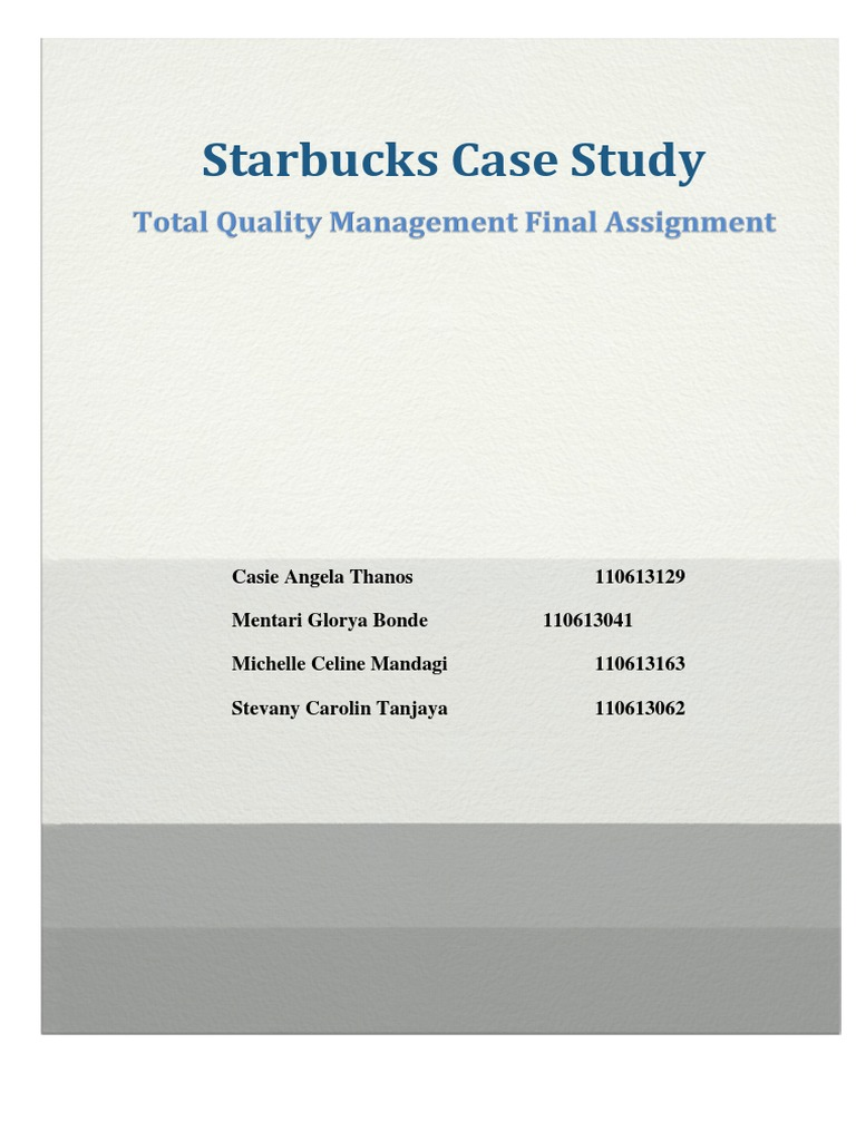 starbucks quality management