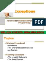 MELJUN CORTES JAVA Exceptions