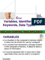 MELJUN CORTES C++_Variables_Keywords_Data_Types