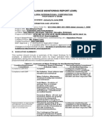 PROPONENT-Compliance Monitoring Report - New Format-Sample