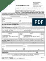 DeVry Keller Transcript Request Form