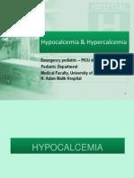 Hypocalcemia & Hypercalcemia