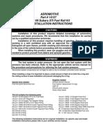 Aeromotive Manual Rail