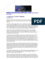 Brian Tracy - A Guide for Creative Thinking