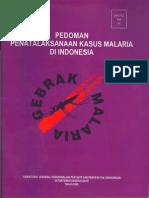 Pedoman tatalaksana Kasus Malaria Di Indonesia