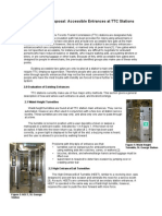 RFP B - Accessible Entrances at TTC Stations