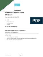 Foundation JET Practice Paper