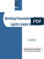 Logistics Invoice Verification