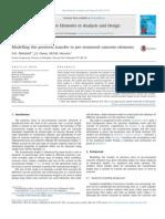 Modelling the Prestress Transfer in Pre-tensioned Concrete Elements