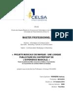 Anthony Perrière - Projets musicaux de marque, une logique publicitaire en contrepoint de l'expérience musicale - Mémoire M2 CELSA 2014.pdf