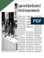 141023 La Verdad CG-La gran voz de Eliane Eias abrirá el Fetival de Jazz p.10