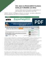 #versoParigi2015, la strada del dialogo verso la COP21 sui cambiamenti climatici