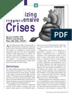 Hypertension Crisis