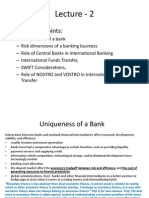 International Banking - Lecture 2 - Sept 30, 2014