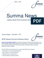 Summa Group News October 2014 PT1