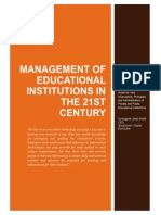 Managment of Universities 1a