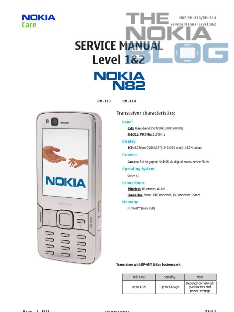 nokia n82 disassembly electrostatic discharge battery electricity rh scribd com Nokia N85 nokia n82 service manual pdf