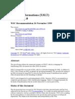 XSL Transformations