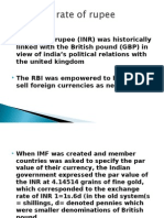 Exchange Rate of Rupee1