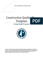 Construction sample Quality Plan