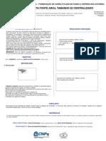 Modelo do  pôster -  Congresso Universitário - 03 a 06 de dezembro.ppt