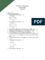 Soal Matematika Kelas 6 SD Semester I - Ulangan Bab 3 Geometri
