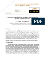 Lattice Boltzmann Simulation of Non-newtonian Fluid Flow in a Lid Driven Cavit