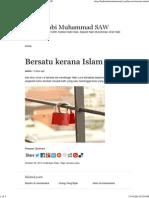 Bersatu Kerana Islam _ Hadis Nabi Muhammad SAW
