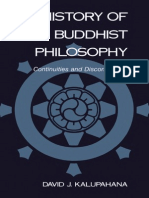 A History of Buddhist Philosophy - Kalupahana