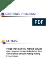Tabel Distribusi Frekuensi (Kuliah 5)