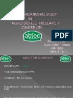 organizational study on ABTEC