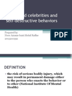 Hollywood Celebrities and Self-Destructive Behaviors