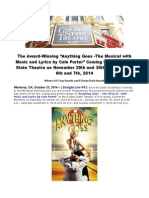 "The Award-Winning ""Anything Goes -The Musical With Music and Lyrics by Cole Porter"