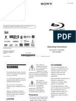 Sony BDPS570 & BX57 Operating Instructions