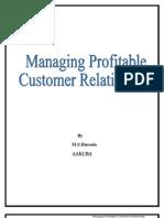 Managing Profitable Customer Relationship