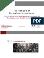 Sondage Ifop sur les Français et les nuisances sonores