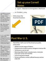 WEBNotes - Day 1 - 1920s - AmericanResponseToImmigration - Red Scare