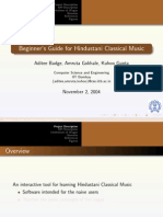 Beginner's Guide for Hindustani Classical Music