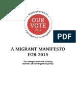 Migrant Manifesto 2015