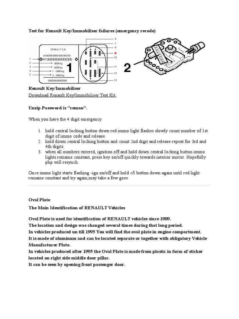 Test For Renault Key Doc