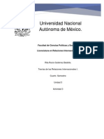 Teoria de la RI - RITA ROCIO GUTIERREZ BEDOLLA- Unidad 3- Actividad 3- Gutiérrez Bedolla Rita Rocio.docx
