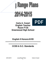 2014-2015 long range plans with sc standards and ccss-2