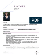 michelle hoover resume