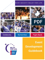 American Cancer Society Relay For Life Event Planner/Guidebook
